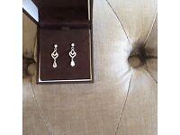 Ernest Jones 9ct white gold earrings