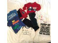 Bundle of baby boy clothes aged 3-6 months.