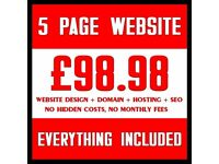 £100 Professional Website Design, Flyers, Leaflets, Logo, Graphics, Videos, SEO, Cheap Web