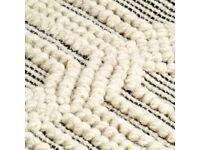 Rug Handwoven Wool 160x230 cm White/Black-284371