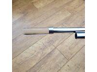 Swish Chrome Extendable Curtain Pole 277cm - 320cm with Glass Finials