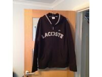 Lacoste Black Hooded Zip Jacket
