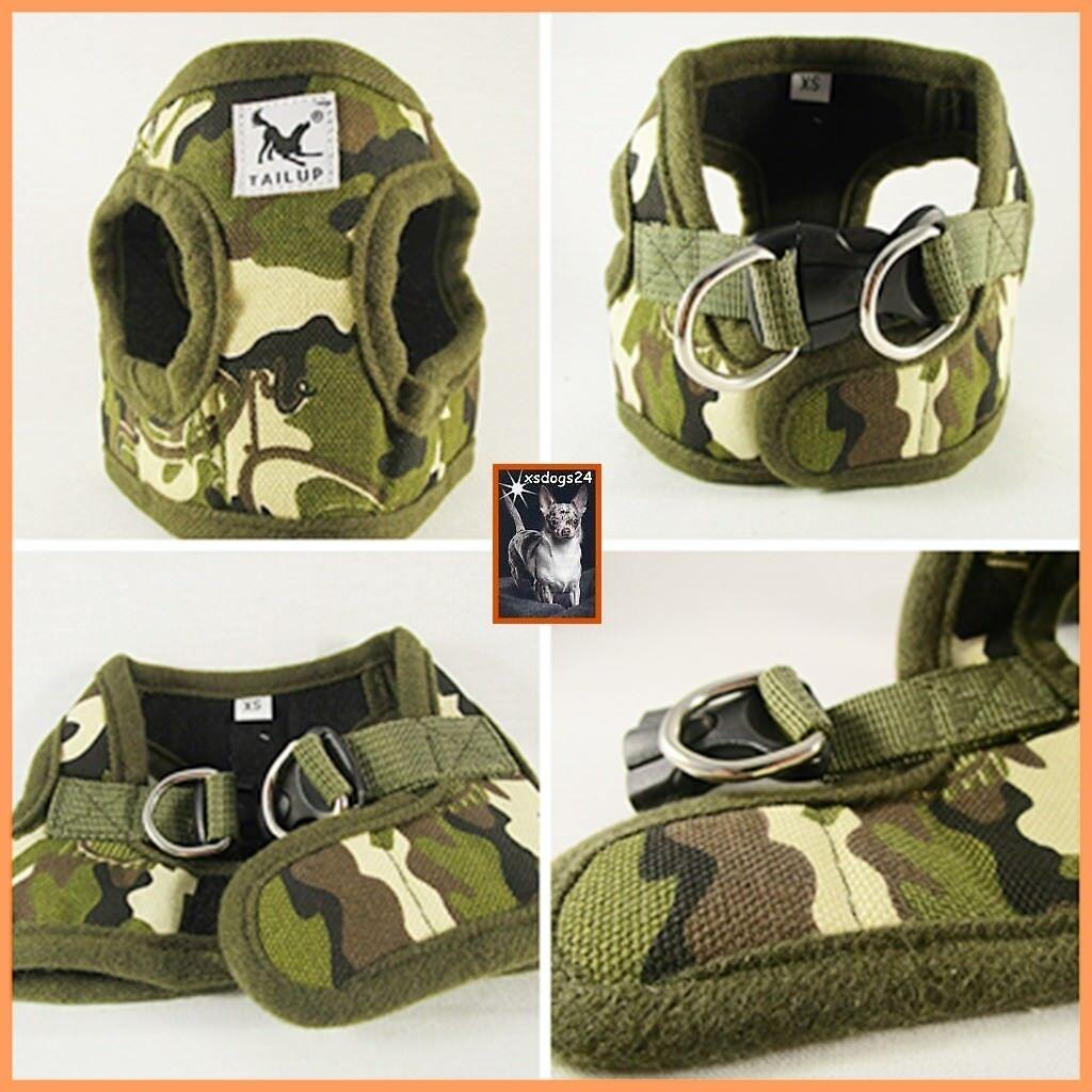 Trend Softgeschirr Camouflage Welpengeschirr Hundegeschirr Weste Chihuahua XS-L