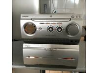 Radio cd twin casset player with remote