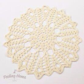BRAND NEW Handmade Crochet Tablecloth Home Decor Ivory II