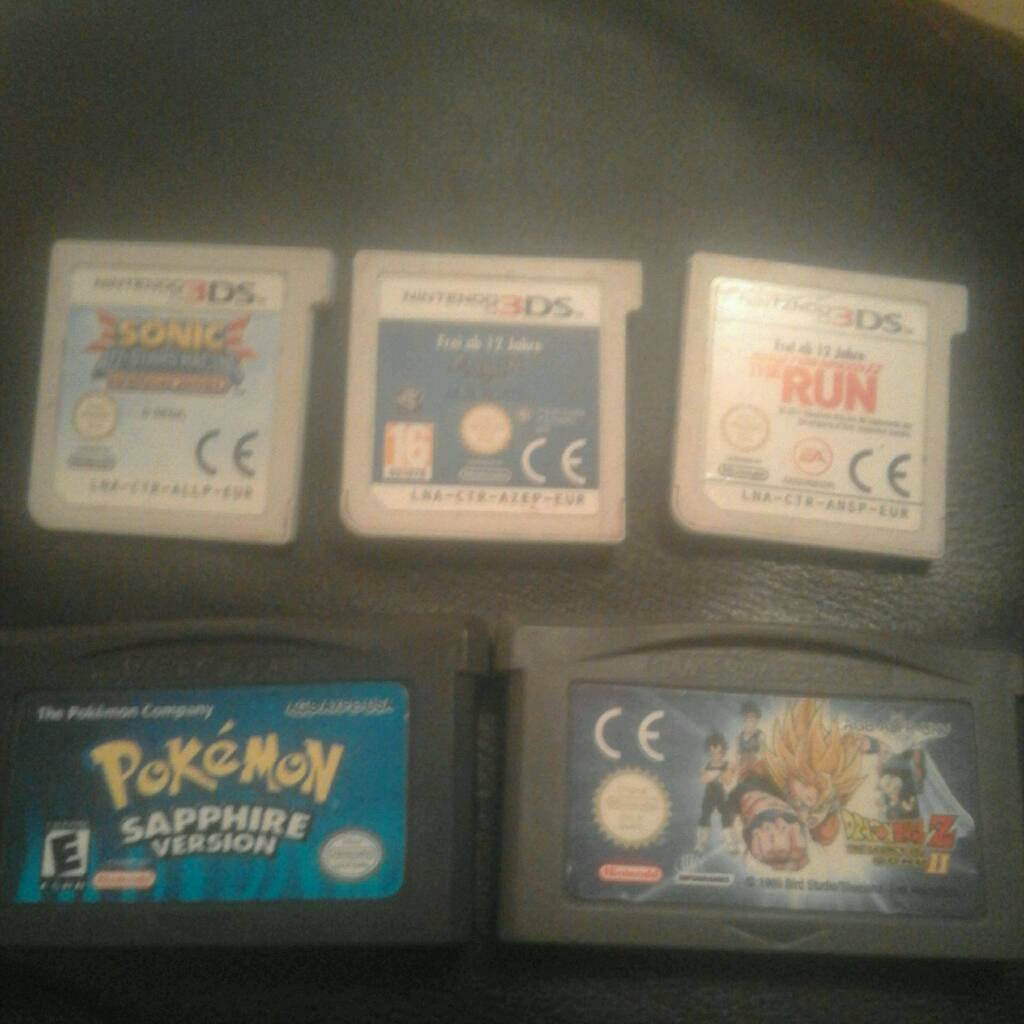 Nintendo 3ds and gameboy advance games