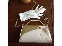 Genuine Gina Leather Clutch/Shoulder Bag complete with a pair of gloves