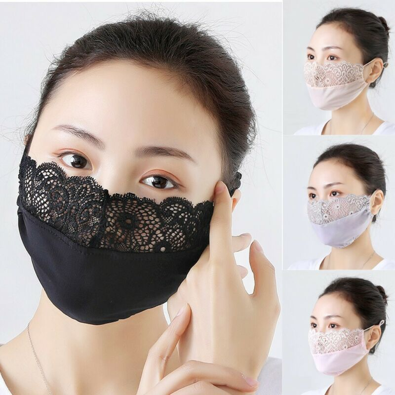 Washable Sun Proof Embroidered Lace Fpral Breathable Riding