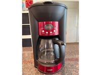 Logik Digital Coffee Maker Ruby Red
