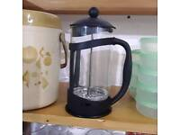 8 cup glass cafetiere fresh coffee maker black 1 litre
