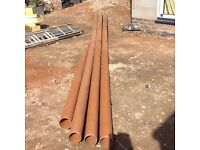 110mm underground drainage pipe and fittings.