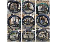 Mountain bike and race bike wheel