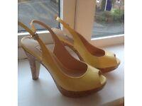 Dune heeled sandals Yellow