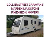 2009 Bailey ranger gt 60 520/4 berth fixedbed caravan + movers