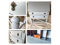 Vintage furniture desk table bureau hallway writing desk - reduced