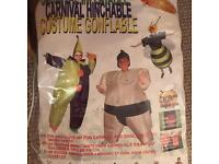 Large inflatable sumo costume fancy dress