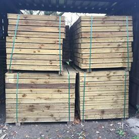 🌲Feather Edge Tanalised Wooden Fencing Boards/ Panels/ Pieces ~ Various Sizes