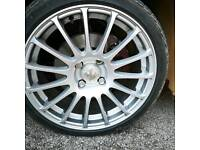 17inch alloys with new tyres
