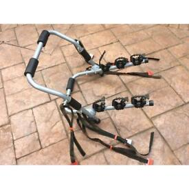 Car Cycle rack, universal fitting for up to three cycles, in excellent condition.