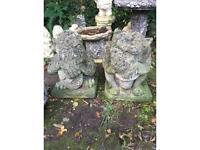 Pair Large Gatekeeper Gargoyle