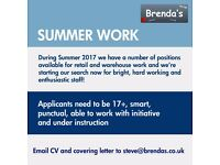 Summer Temp Work, Retail and Warehouse, Camberley, Surrey, Permanent positions also available