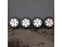Fiat Steel Rims,Trims & Hankook Winter Tyres 175 65x14