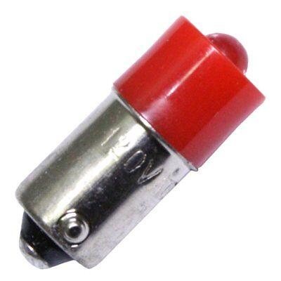 EIKO LED-120-MB-R - T3-1/4 BA9S Base 110-130 Volt Red LED Miniature Bulb (Miniature Bulb Ba9s Base)