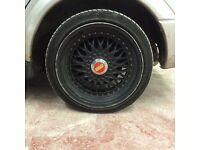 Bbs 15 inc alloys with tyres