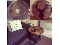 Handmade whisky lid tables