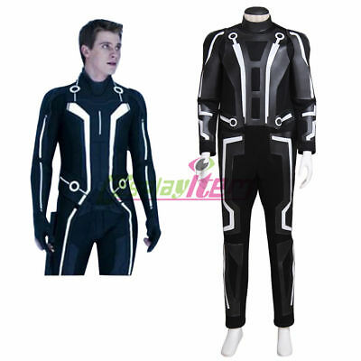 Tron: Legacy Sam Flynn Adult Men's Jumpsuit Cosplay Costume custom - Tron Adult Costume
