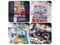 4x Boys 6-7yr Superhero T.Shirts