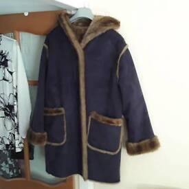 Dennis Brasso Faux Fur reversible coat