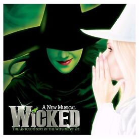 TWO Wicked Theatre Tickets - *TODAY* - 2.30pm - great seats!