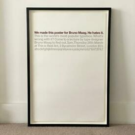 Graphic Design Poster in professional frame