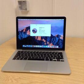 """2013 13"""" Retina Apple Macbook Pro i5 2.4Ghz 4GB 128GB SSD intel GPU £1450 AST2"""