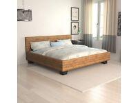 Sumatra Handwoven Abaca Rattan Wicker Double Bed Bed 140cmx200 cm
