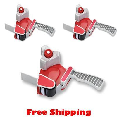1 X 2 Inch Packing Tape Gun Dispenser Cutter Metal Frame Red Pack Of 3