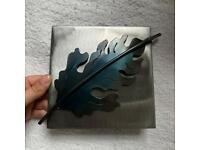 Leaf metal metalwork wall art picture. Handmade