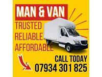 MAN AND VAN SAME DAY HIRE 07 934 301 825