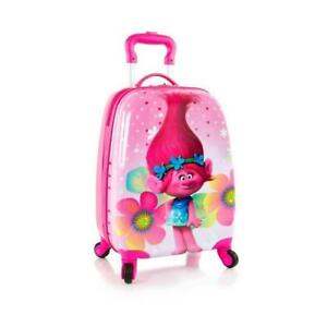 Heys DreamWorks Trolls Kids Classic Designed Multicolored Spinner Luggage