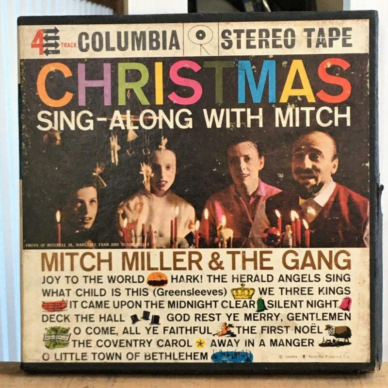 Christmas Sing-Along With Mitch Columbia CQ 313 Stereo Reel to Reel Tested