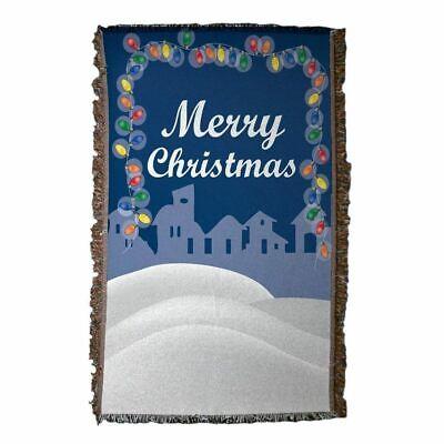 Christmas Lights Woven Blanket ()