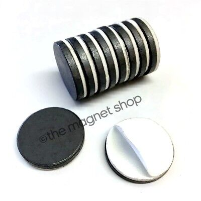 Self Adhesive Magnets 10pcs Strong Fridge Ceramic Ferrite 25mm for sale  Shipping to Canada