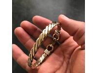 Gold Bracelet - RARE - genuine gold (approx 35 grams)