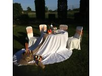 Chair covers and sashes for sale as a job lot. Very reasonably priced at £250.00 all in.