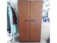VINTAGE 1960s G PLAN TYPE Teak Wardrobe Lockable double door