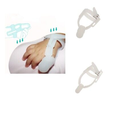 Nontoxic Silicone Baby Thumb Stop Sucking Guard protect band lantern jaw prevent