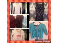 NAMED CLOTHES 8-12 bundle JOBLOT jackets tops s Topshop river island over 50 items gloves scarves