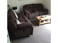 2 x 2 Reclining 2 Seater Sofas As New!