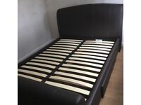 Double Bed Frame - Faux Leather